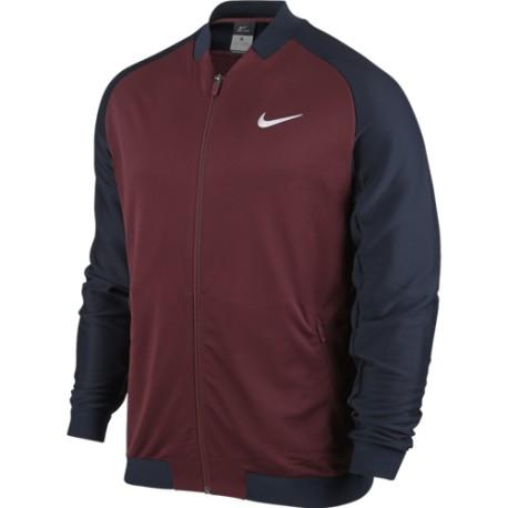Pánská tenisová bunda Nike Premier NIGHT MAROON/DARK OBSIDIAN/WHITE