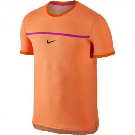 Pánské tenisové tričko Nike Rafa Challenger SS Premier BRIGHT CITRUS