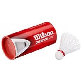 Badmintonové košíčky Wilson Championship white 79 / 3 kusy