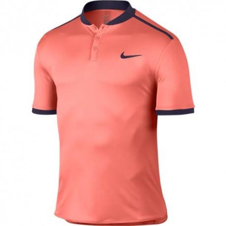 Pánské tenisové tričko Nike Premier Advantage Polo BRIGHT MANGO/PURPLE DYNASTY