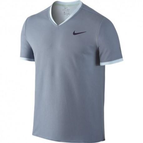 Pánské tenisové tričko Nike RF Dry Top SS BLUE GREY