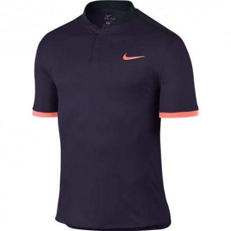 Pánské tenisové tričko Nike Premier Advantage Polo PURPLE DYNASTY/BLACK/BRIGHT MANGO