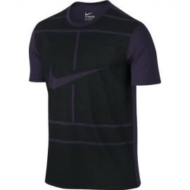 Pánské tenisové tričko Nike Dry Tee PURPLE DYNASTY/BLACK
