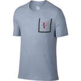 Pánské tenisové tričko Nike RF Stealth BLUE GREY