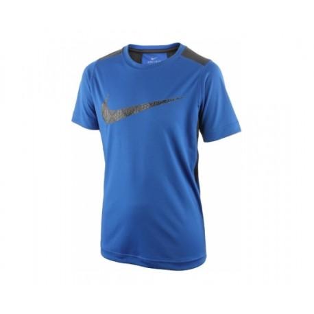 Chlapecké tričko Nike Dry SS Legacy GFX GAME ROYAL/ANTHRACITE