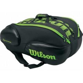 Tenisová taška Wilson Blade 15 black/limet