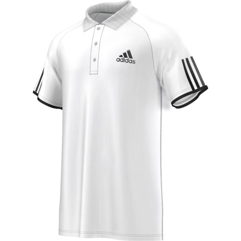 2193be9ade Pánské tenisové tričko adidas Club Polo white black - Tenissport Březno