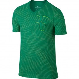 Pánské tenisové tričko Nike RF STADIUM GREEN/GHOST GREEN