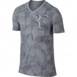 Pánské tenisové tričko Nike RF WOLF GREY/BLACK