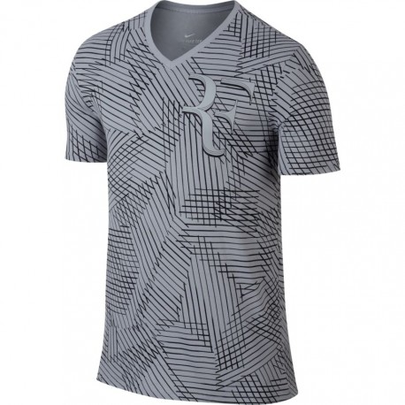 Pánské tenisové tričko Nike RF BLACK/STADIUM GREEN