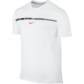 Pánské tenisové tričko Nike AeroReact Rafa Challenger WHITE/HYPER ORANGE