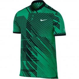 Pánské tenisové tričko Nike RF Advantage Premier Polo GREEN/BLACK