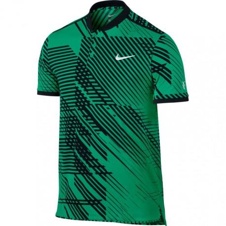 Pánské tenisové tričko RF Advantage Premier Polo GREEN/BLACK