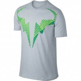 Pánské tenisové tričko Nike Rafa PLATINUM/GREEN