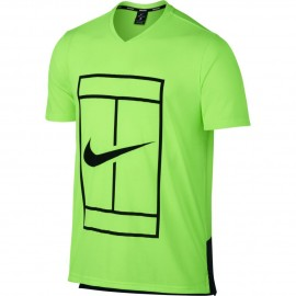 Pánské tenisové tričko Nike Court Dry GREEN BLACK