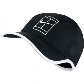 Kšiltovka Nike AeroBill Featherlight Tennis Cap black/white
