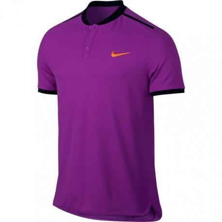 Pánské tenisové tričko Nike Advantage Polo VIVID PURPLE/BLACK