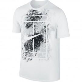 Pánské tenisové tričko Nike Court Dry WHITE/BLACK