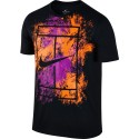 Pánské tenisové tričko Nike Court Dry BLACK/TART