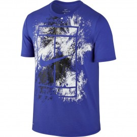Pánské tenisové tričko Nike Court Dry BLUE/WHITE