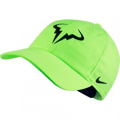 Tenisová kšiltovka Nike AeroBill H86 Rafa GHOST GREEN/BLACK