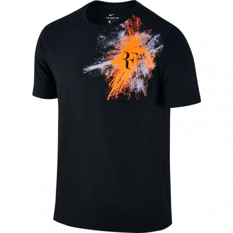 Pánské tenisové tričko Nike RF BLACK/TART