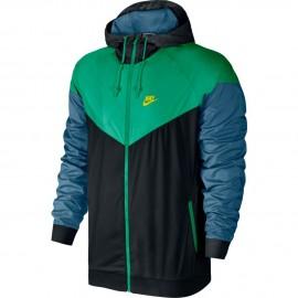 Pánská bunda Nike Windrunner BLACK/STADIUM GREEN/ELECTROLIME
