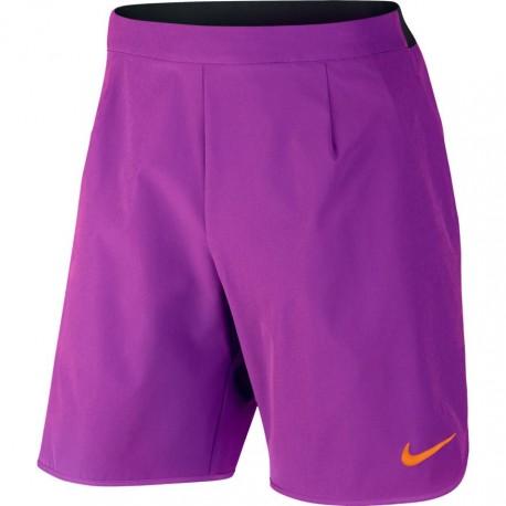 Pánské tenisové šortky Nike Court Flex VIVID PURPLE/BLACK