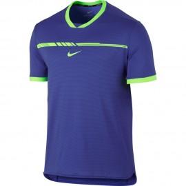 Pánské tenisové tričko Nike AeroReact Rafa Challenger PARAMOUNT BLUE/GHOST GREEN