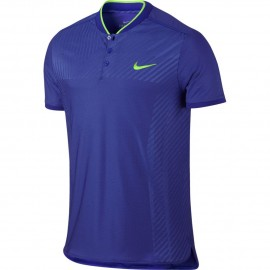 Pánské tenisové tričko Nike ZC Advantage Polo BLUE/GREEN