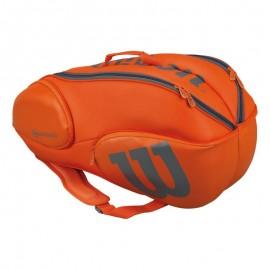Tenisová taška Wilson Vancouver 9 orange/grey