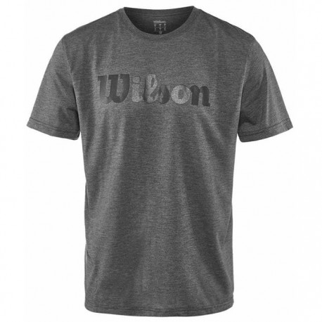 Pánské tenisové tričko Wilson UW Tech TEE Ebony