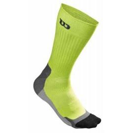 Pánské tenisové ponožky Wilson High-End Crew Lime Punch/Black