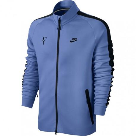 Pánská tenisová mikina Nike PREMIER RF N98 PURPLE DYNASTY/BRIGHT MANGO