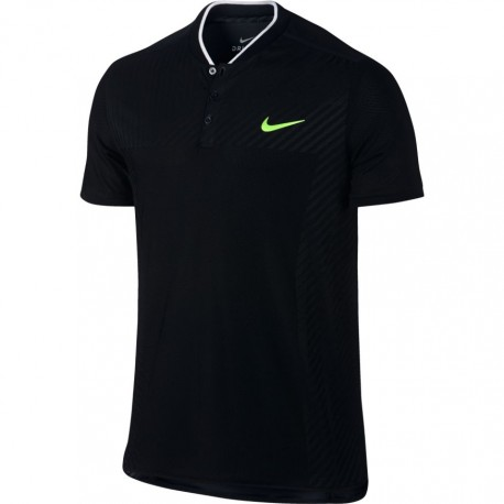 Pánské tenisové tričko Nike Zonal Cooling Advantage Polo BLACK/GHOST GREEN