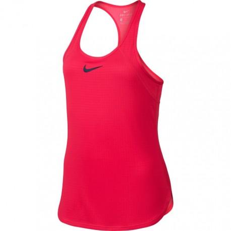 Dívčí tenisové tílko Nike Dry Tank Slam ACTION RED/MIDNIGHT NAVY