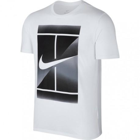 Pánské tenisové tričko Nike DRY TEE white/black