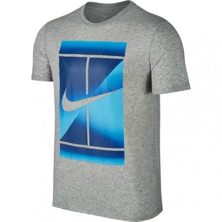Pánské tenisové tričko Nike DRY GREY/BLUE
