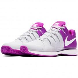 Dámská tenisová obuv Nike Zoom Vapor 9.5 Tour PURE PLATINUM/WHITE-VIVID PURPLE