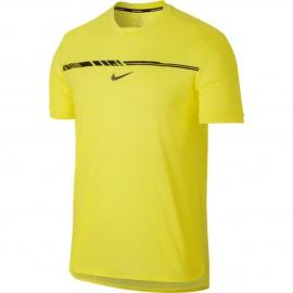 Pánské tenisové tričko Nike AeroReact Rafa Challenger PARAMOUNT SONIC YELLOW