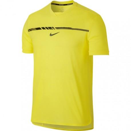 Pánské tenisové tričko Nike AeroReact Rafa Challenger SONIC YELLOW