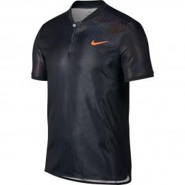 Pánské tenisové tričko Nike Dry Advantage Polo ARMORY BLACK/HOT PUNCH