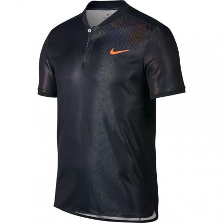 Pánské tenisové tričko Nike Dry Advantage Polo BLACK/HOT PUNCH