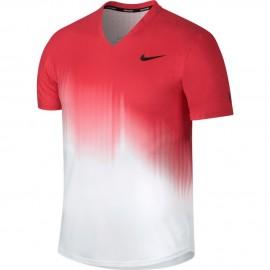 Pánské tenisové tričko Nike RF TOP US WHITE/ACTION RED