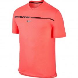 Pánské tenisové tričko Nike AeroReact Rafa Challenger HOT PUNCH