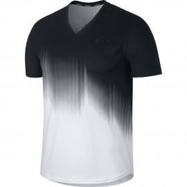 Pánské tenisové tričko Nike RF TOP US  WHITE/BLACK