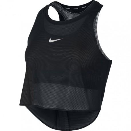 Dámské tenisové tílko Nike TOP US SW BLACK