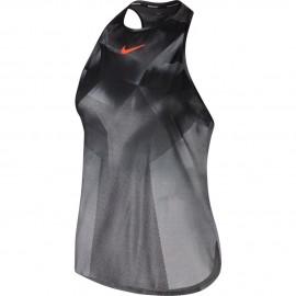 Dámské tenisové tílko Nike DRY SLAM US NT MTLC PLATINUM/PURE PLATINUM
