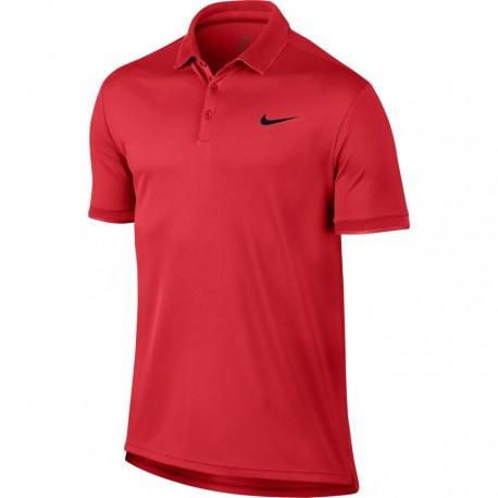 Pánské tenisové tričko Nike DRY POLO TEAM ACTION RED
