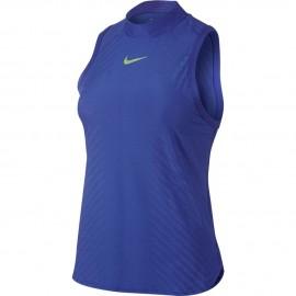 Dámské tenisové tričko NIke DRY SLAM PRM PARAMOUNT BLUE